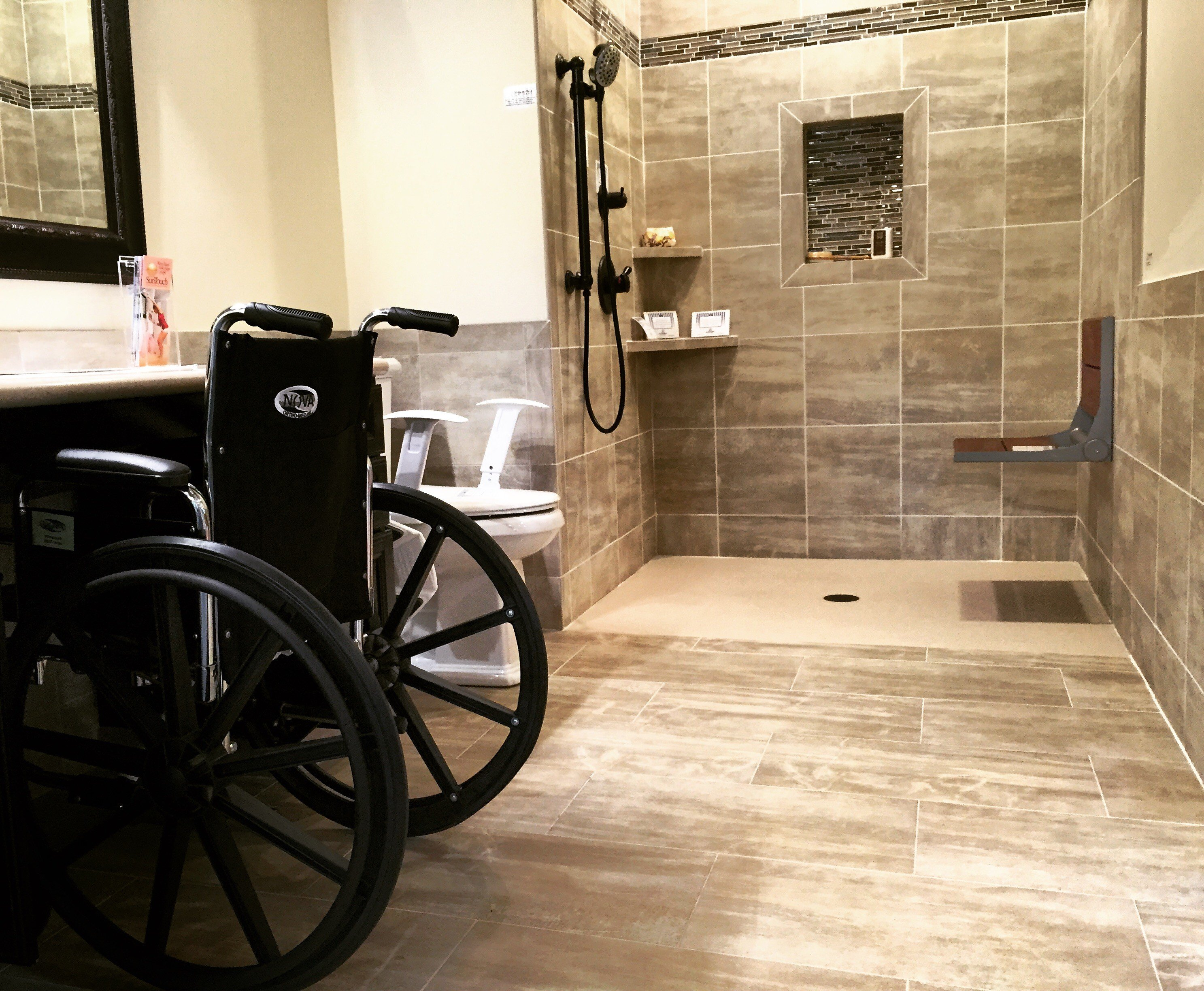 Handicap Shower Water Barrier : Handicap shower accessible systems