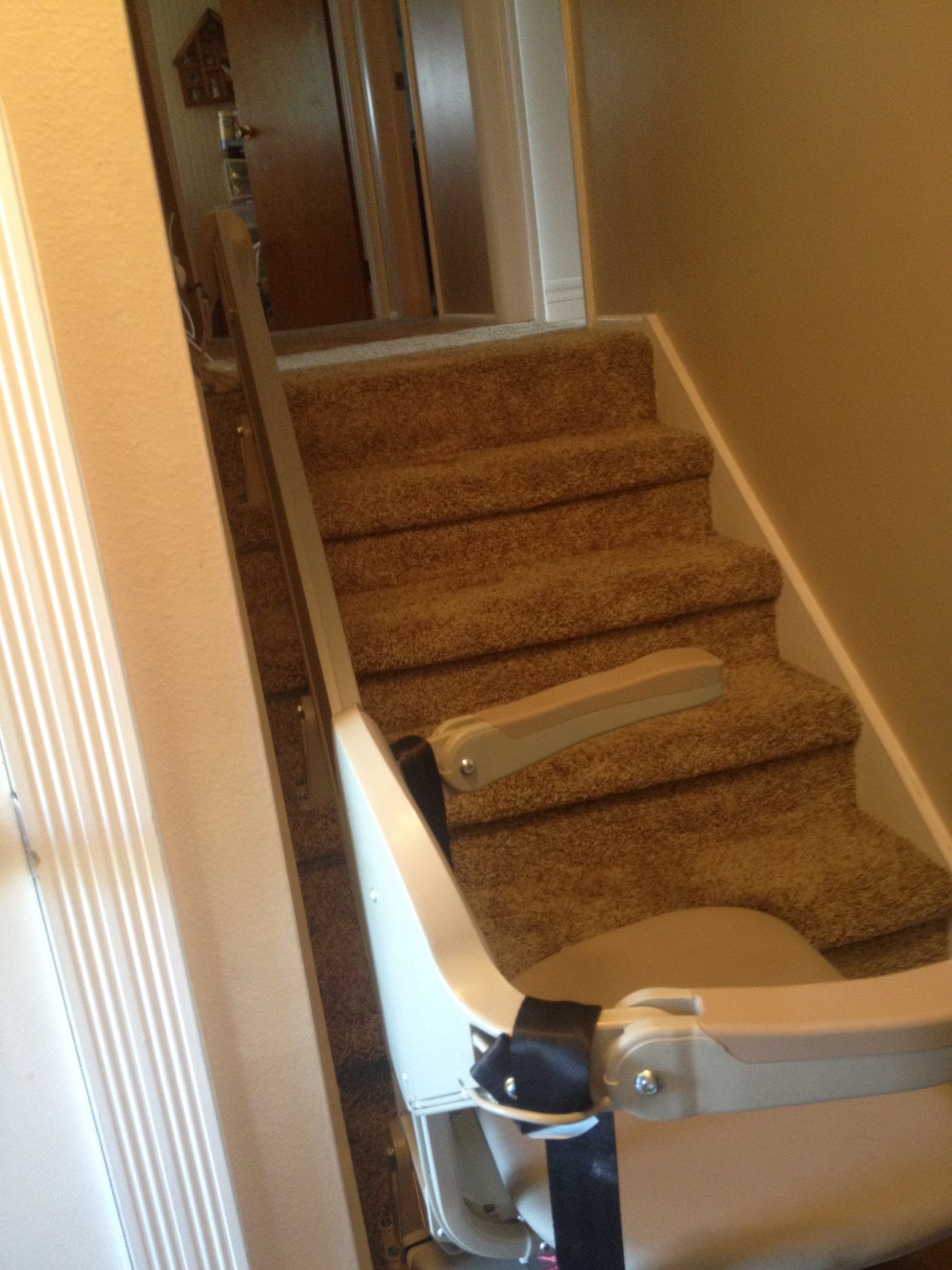 Chair Lift to Basement with Room for Door at Top in Clinton Utah