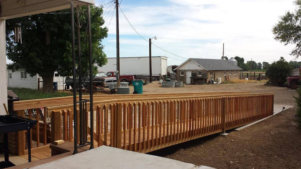 City Of Colorado Springs >> Custom Wood Wheelchair Ramp - Accessible Systems