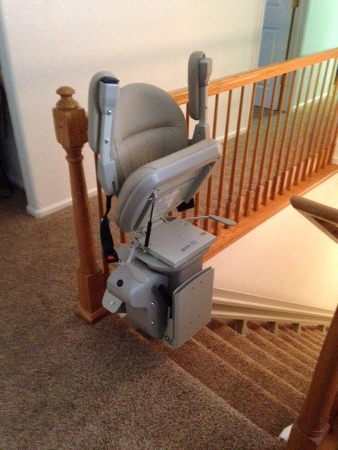 Straight Stair Lift to Basement in Aurora, CO