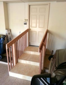 How to make the garage in a home handicap accessible with easy steps