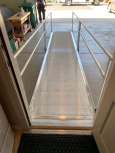 How to make the garage in a home handicap accessible with aluminum modular ramps