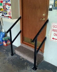 How to make the garage in a home handicap accessible with steel railings