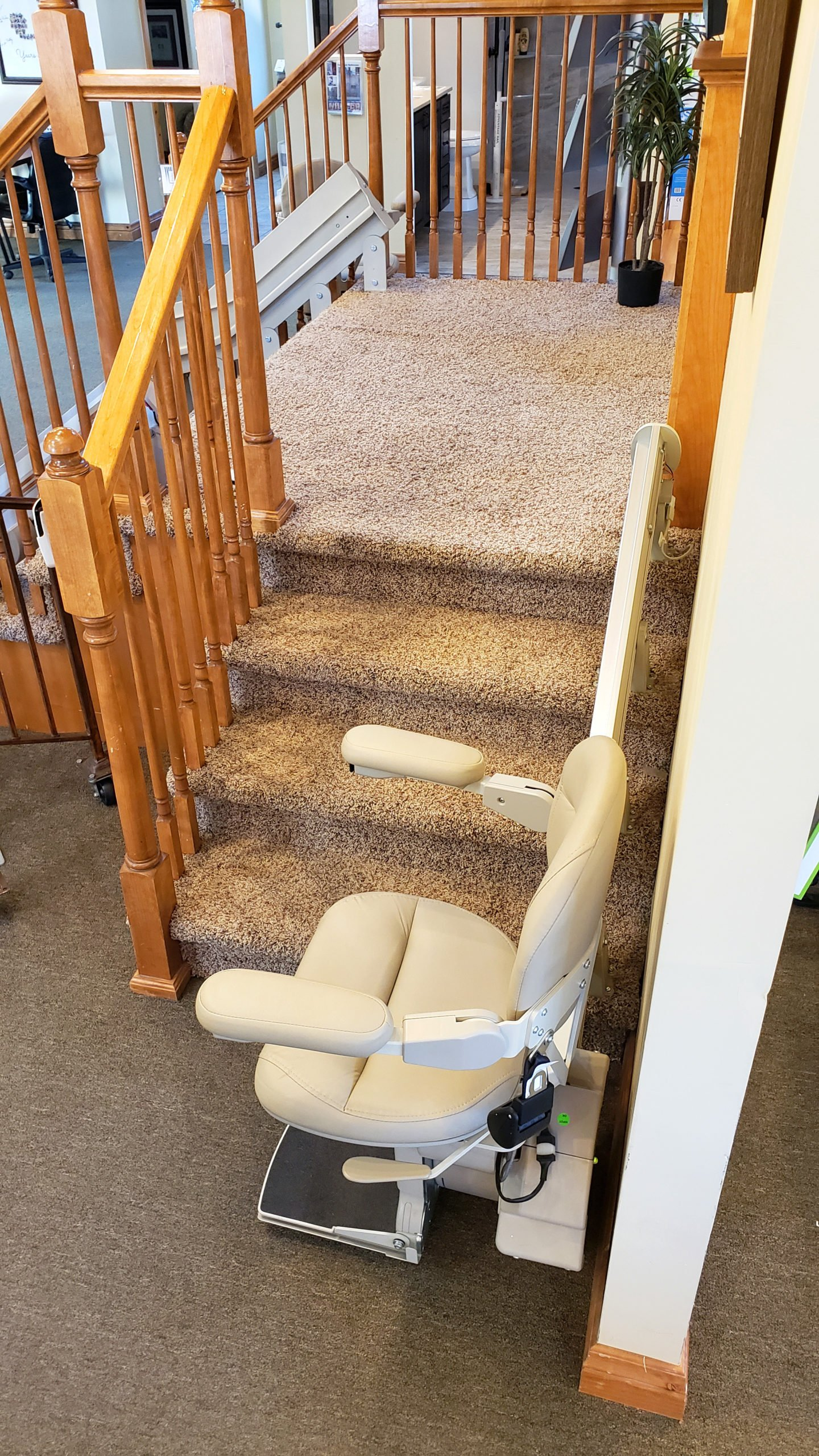 This Bruno straight stair lift does not damage the stairs or wall
