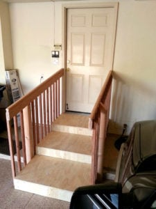 Garage steps ideas like these Easy Steps are a great way to make a garage entrance accessible